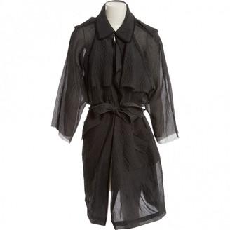 Lanvin Grey Silk Coat for Women