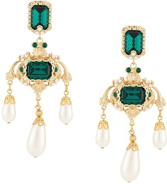 Dolce & Gabbana Drop Crystal Earrings