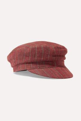 Isabel Marant Evie Striped Linen Cap - Orange