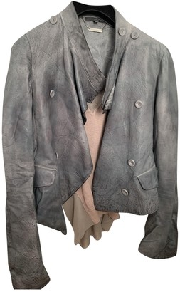 Alexander McQueen Grey Leather Leather jackets