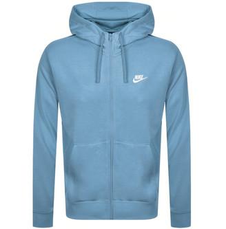 Nike Full Zip Club Hoodie Blue