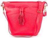 GiGi New York NEW Jenn Poppy Embossed Leather Bucket Bag