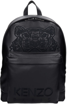 Kenzo Backpack In Black Leather