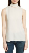 Theory Women's Classic Slit Collar Silk Top