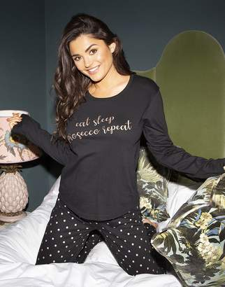 Pour Moi? Pour Moi Jersey Cotton Slogan Pyjamas Set