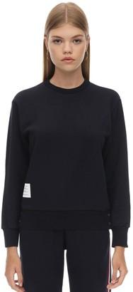 Thom Browne Cotton Crewneck Sweater W/ Back Stripes
