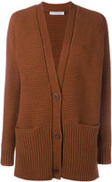 Vince Wool Cashmere-Blend Waffle Knit Cardigan