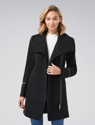 Forever New Tiffany Biker Coat - Black - 4