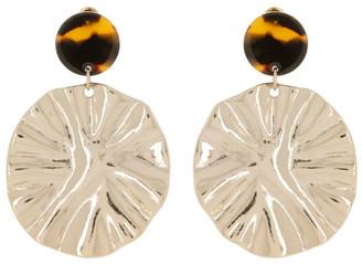 Miss Shop Crinkle Disc Drop Earrings