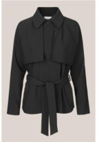 Second Female - Silvia Black Short Trench Jacket - XS