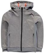 adidas Kids PrimePlus Full Zip Hoody Junior Boys Ribbed Warm Chin Guard