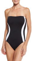 LaBlanca La Blanca Block My Way Bandeau One-Piece Swimsuit, Plus Size