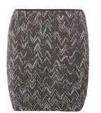 Dorothy Perkins Womens **Vila black and sliver mini skirt- Black