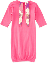Pink Floral-Accent Bunny Ears Gown - Infant