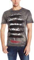 Buffalo David Bitton Men's Nirked Short Sleeve Crew Neck Fashion Tee Shirt