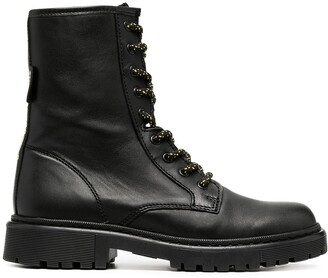 Tommy Jeans Lace-Up Military Boots