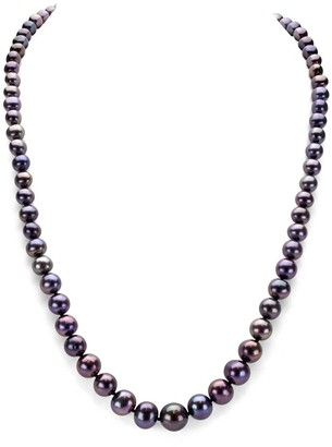 DaVonna Peacock Black Freshwater Pearl Endless Necklace, 48-inch