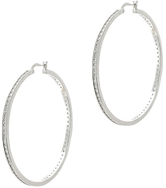 Kenneth Jay Lane Cz By Plated Hoops
