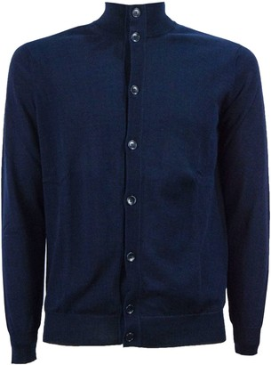 Kangra Blue Cotton Cardigan