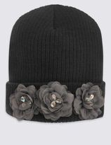 Marks and Spencer Kids' Hat Corsage Beanie