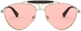 Valentino Eyewear Aviator Sunglasses