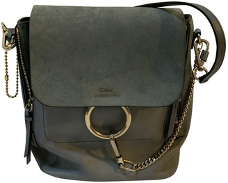 Chloé Faye Blue Leather Backpacks