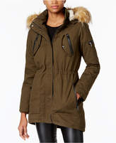 Madden-Girl Juniors' Faux-Fur-Trim Hooded Parka
