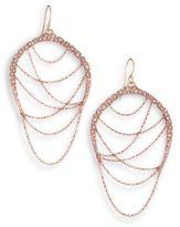 Alexis Bittar Miss Havisham Jagged Crystal Draped Chain Drop Earrings
