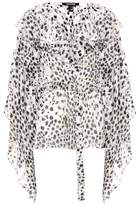 Roberto Cavalli Devoré leopard-printed top