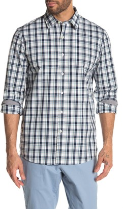 Michael Kors Loren Plaid Print Classic Fit Shirt