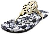 Tory Burch Miller Sandal- Veg Nappa- (Tie Die Printed Footbed)