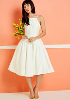 ModCloth Chi Chi London Beloved and Beyond Midi Dress in Ivory in 2