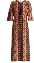 Figue Maribella star-print silk dress