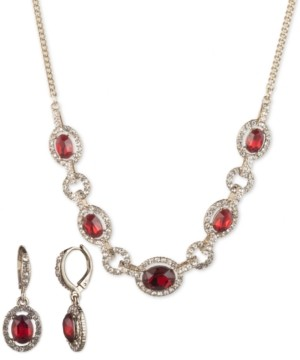 Givenchy 2-Pc. Set Stone & Crystal Statement Necklace & Matching Drop Earrings