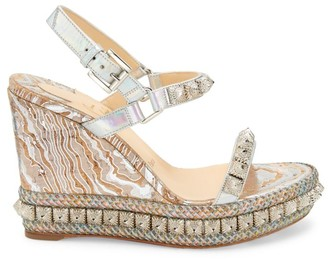 Christian Louboutin Pira Ryad Studded Platform Wedge Sandals