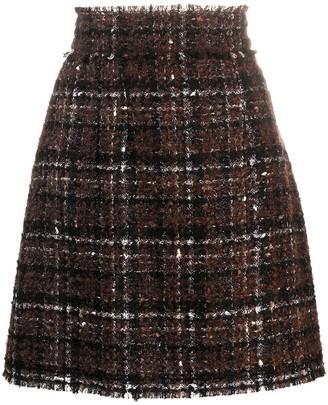 Dolce & Gabbana High-Waist Boucle Skirt