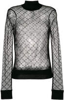Joseph long sleeved lace top