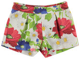 Mayoral Pleated Floral Pique Shorts, Pink/Multicolor, Size 3-7