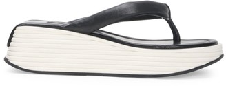 Givenchy Kyoto Platform Leather Flip Flops