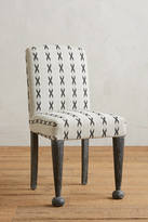 Anthropologie Cross-Stitched Dining Chair