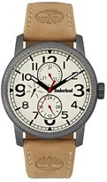 Timberland 'Erving' Multifunction Leather Strap Watch, 44Mm