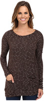 Mod-o-doc Mini Stripe Sweater Seamed Boxy Pullover