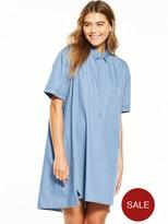NATIVE YOUTH Vent Denim Shirt Dress