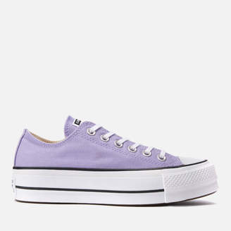 Converse Chuck Taylor All Star Lift Ox Trainers - Washed Lilac/Black/White