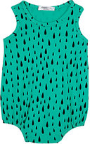 Joah Love Raindrop-Print Cotton Jersey Sleeveless Bodysuit