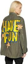 Faith Connexion Hand-Painted Cotton Canvas Field Jacket