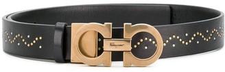 Salvatore Ferragamo double Gancio studded belt