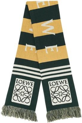 Loewe Logo Knit Scarf