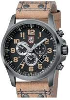 Luminox Men's 1885 Brown Leather Quartz Watch with Black Dial