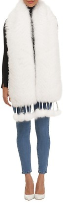 Gorski Fox Fur Detachable Leather Fringe Boa